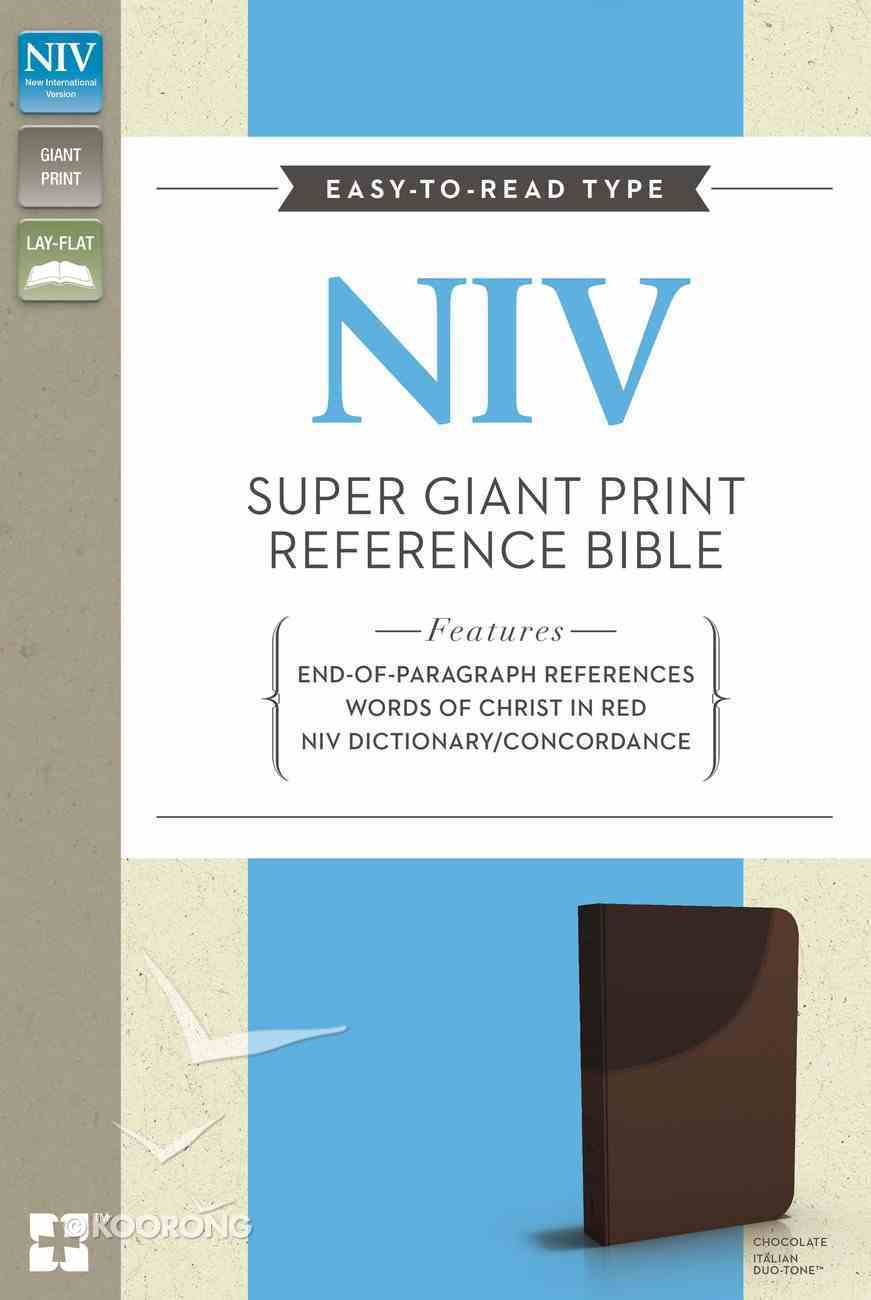 NIV Super Giant Print Reference Bible Chocolate (Red Letter Edition) Imitation Leather