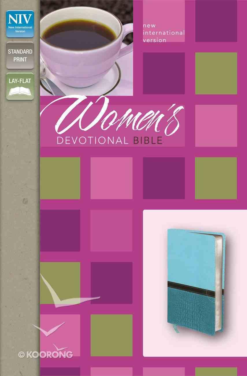 NIV Women's Devotional Bible Turquoise/Caribbean Blue (Black Letter Edition) Premium Imitation Leather