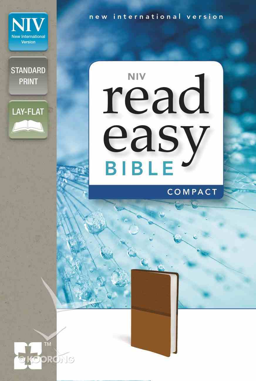 NIV Read Easy Bible Compact Brown (Red Letter Edition) Imitation Leather