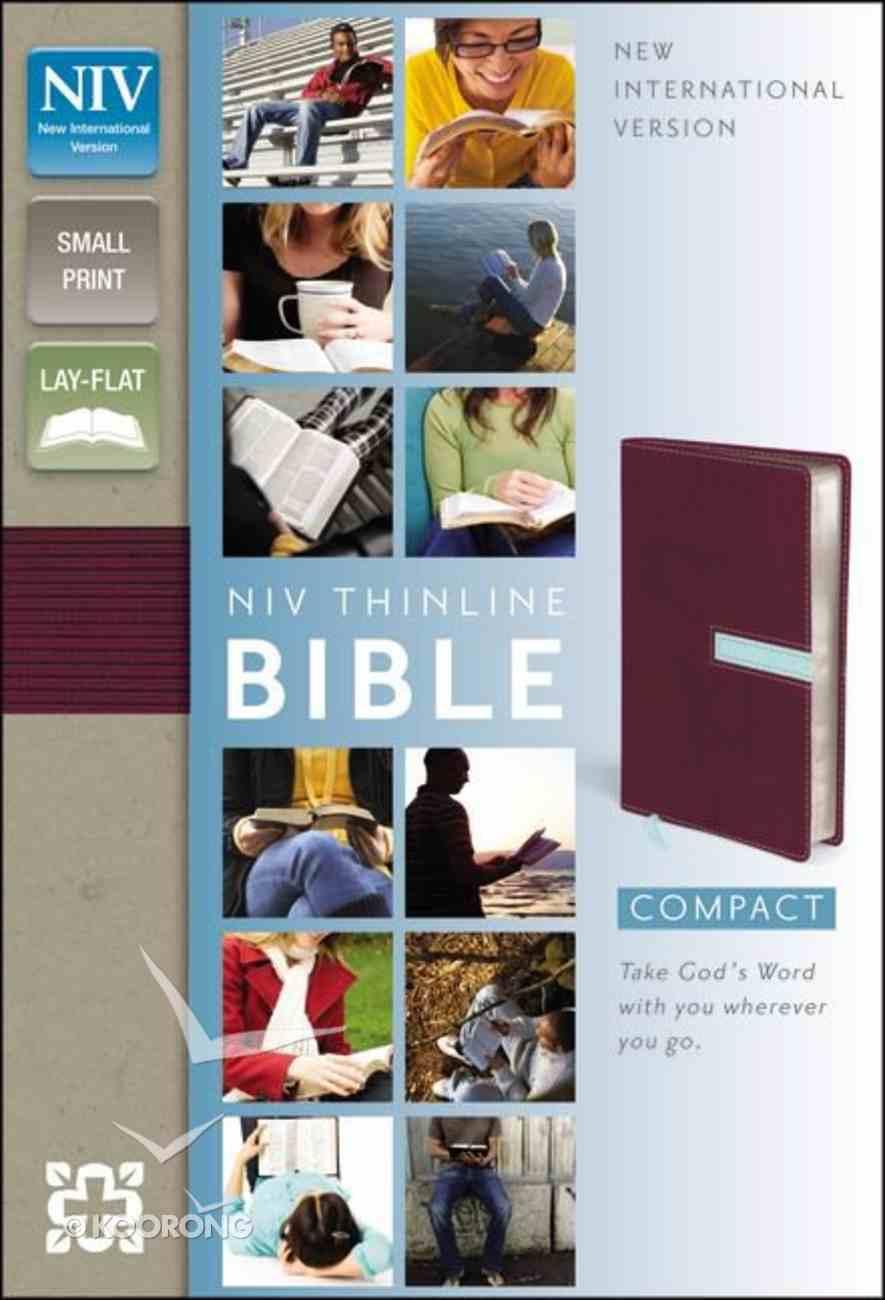 NIV Thinline Bible Compact Razzleberry/Sea Glass Imitation Leather