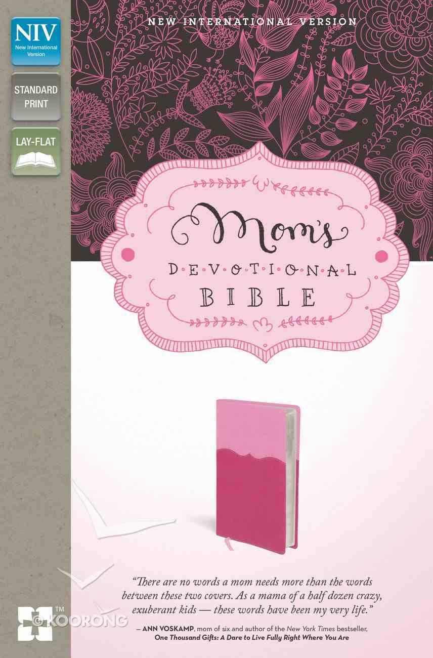 NIV Mom's Devotional Bible Pink/Hotpink (Black Letter Edition) Premium Imitation Leather