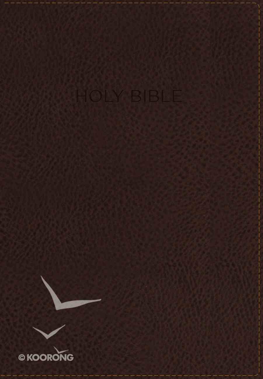 NIV Foundation Study Bible Indexed Earth Brown (Red Letter Edition) Premium Imitation Leather