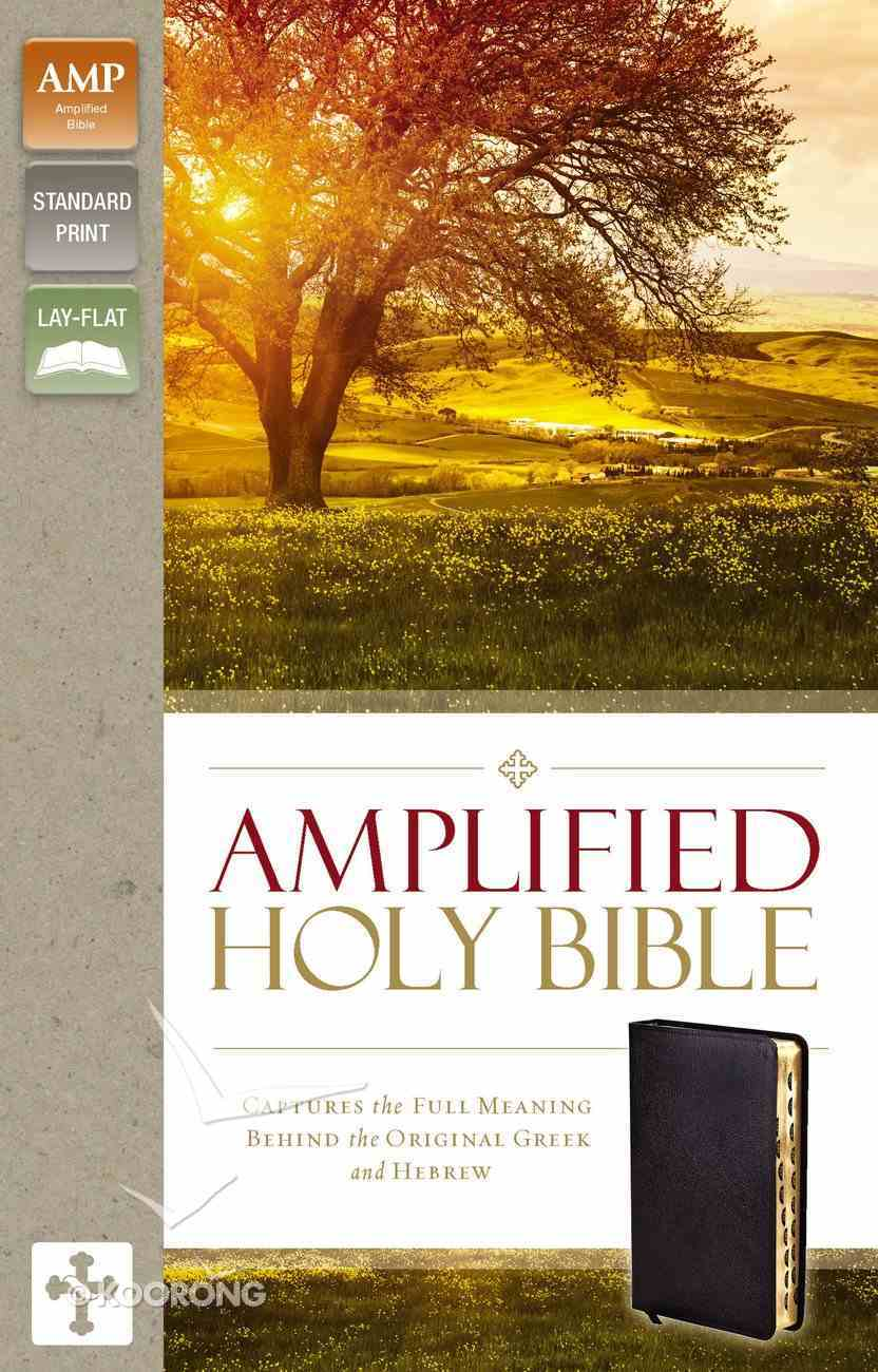 Amplified Holy Bible Indexed Black (Black Letter Edition) Bonded Leather