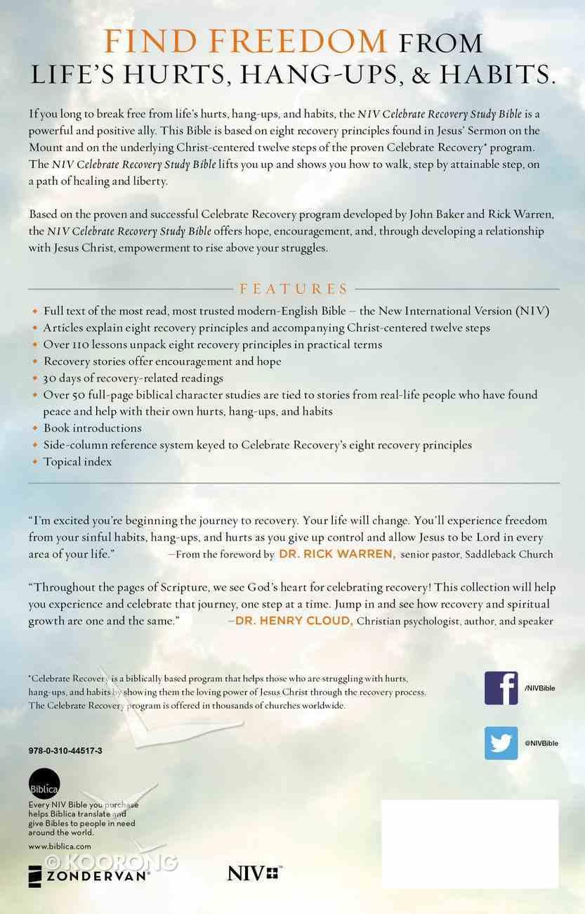 NIV Celebrate Recovery Study Bible (Black Letter Edition) Paperback