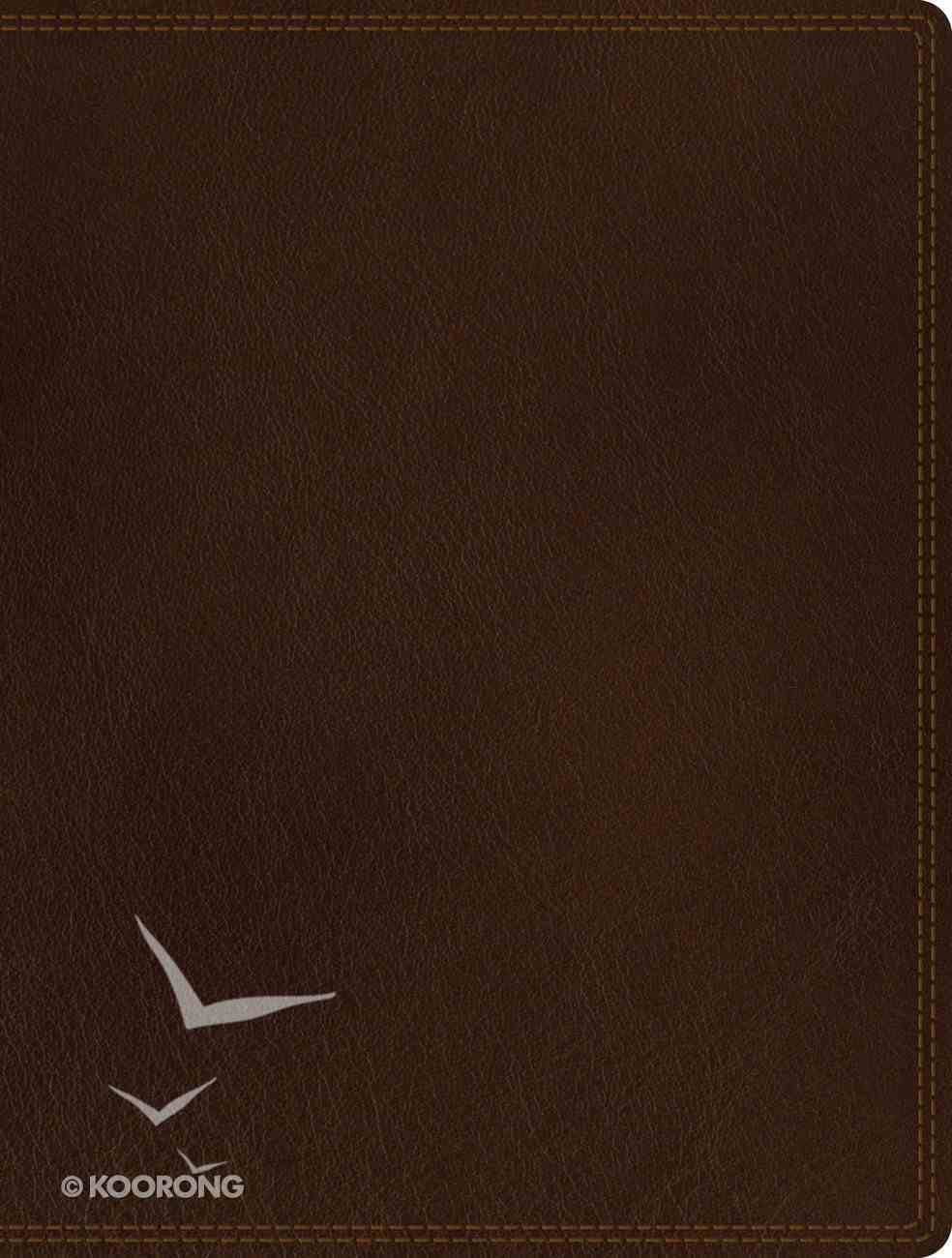 NIV Journal the Word Bible Brown (Black Letter Edition) Genuine Leather