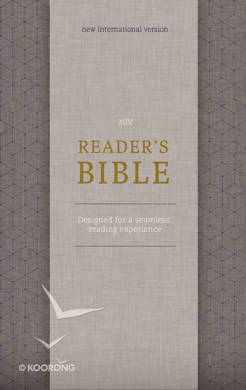 NIV Reader's Bible Gold/Gray (Black Letter Edition) Hardback