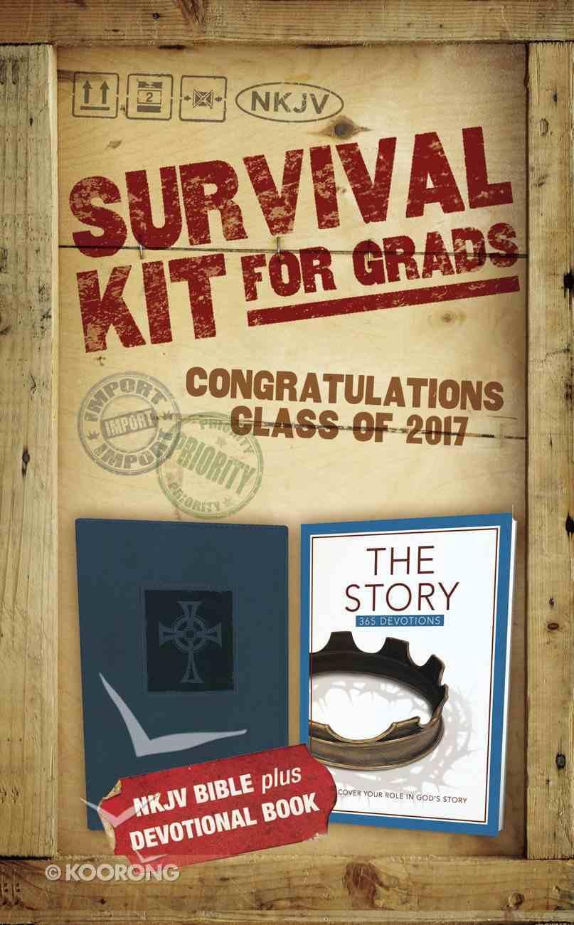 NKJV 2017 Survival Kit For Grads Boys' Edition Blue Red Letter Edition Pack