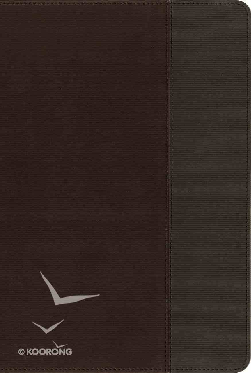 NIV Quest Study Bible Brown/Gray Indexed (Black Letter Edition) Premium Imitation Leather