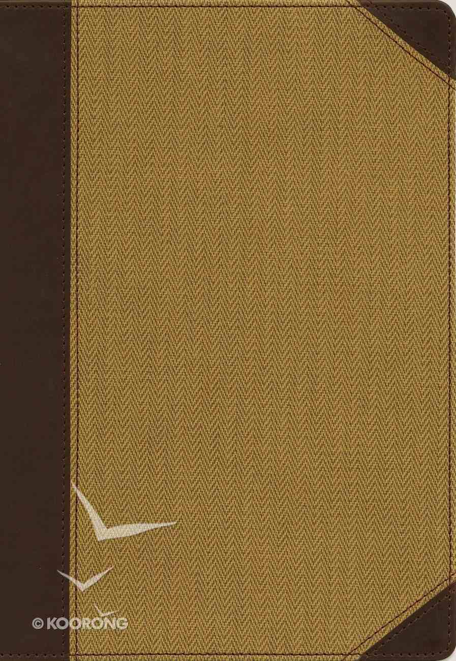 NIV Cultural Backgrounds Study Bible Large Print Tan Indexed Red Letter Edition Premium Imitation Leather