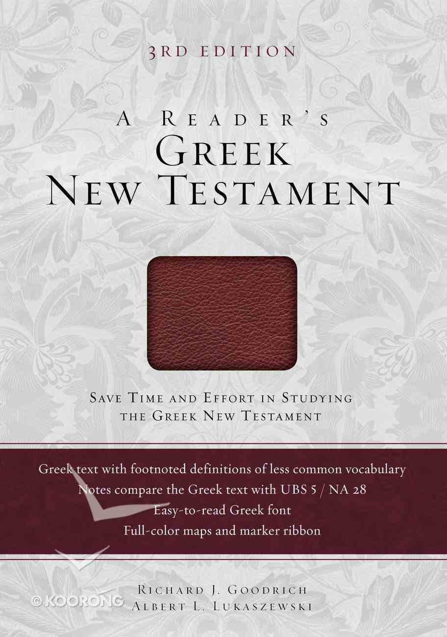 A Reader's Greek New Testament (Third Edition) Imitation Leather