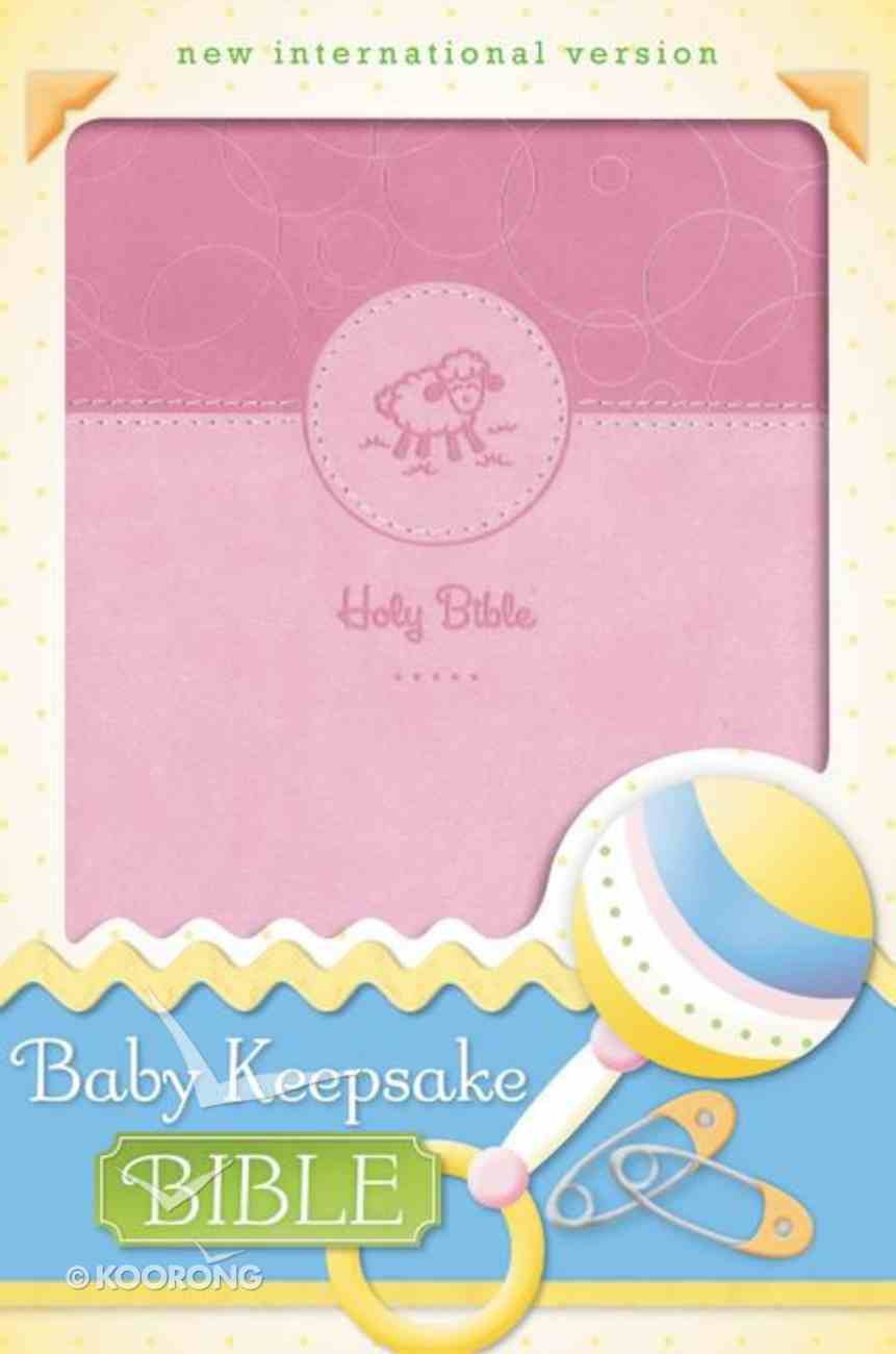 NIV Baby Keepsake Bible Pink (Red Letter Edition) Premium Imitation Leather