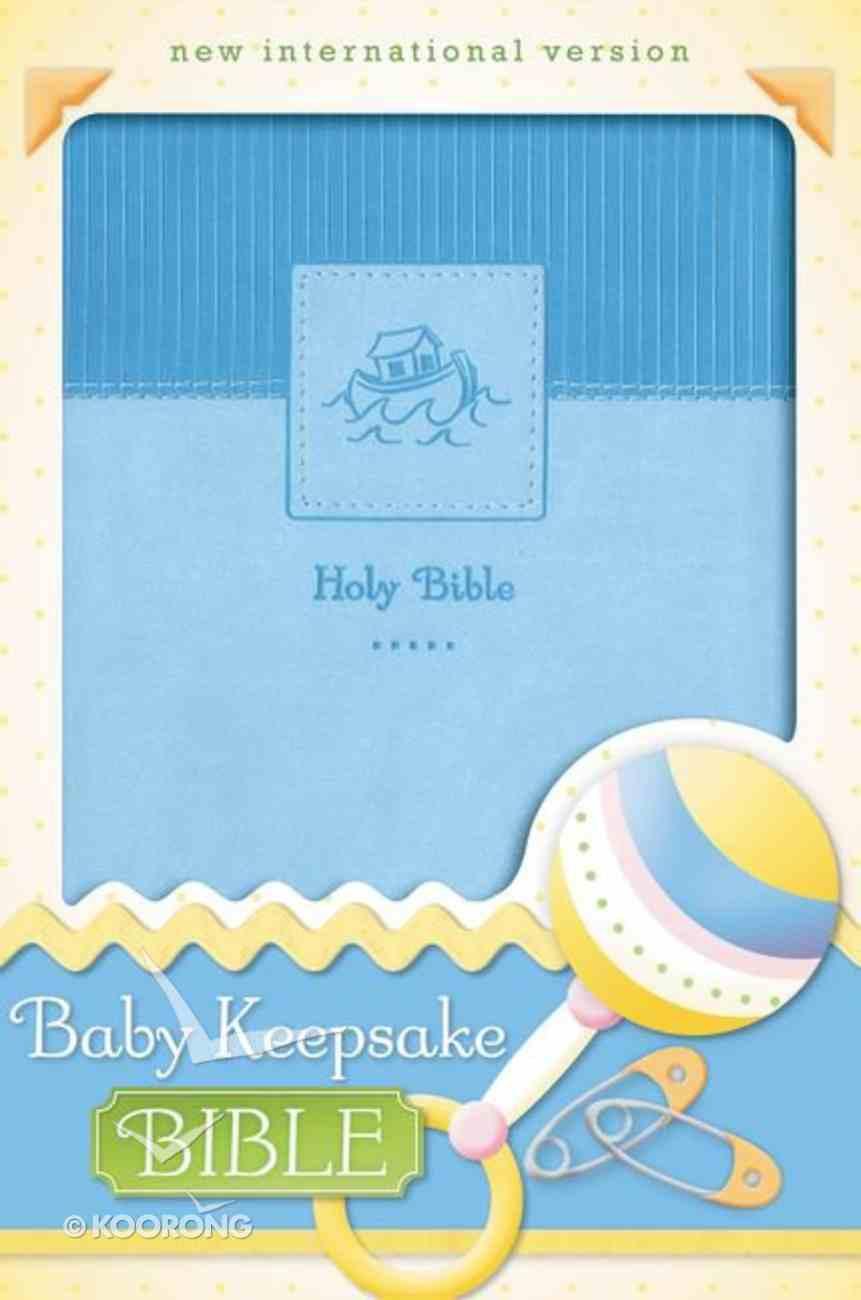 NIV Baby Keepsake Bible Blue (Red Letter Edition) Premium Imitation Leather