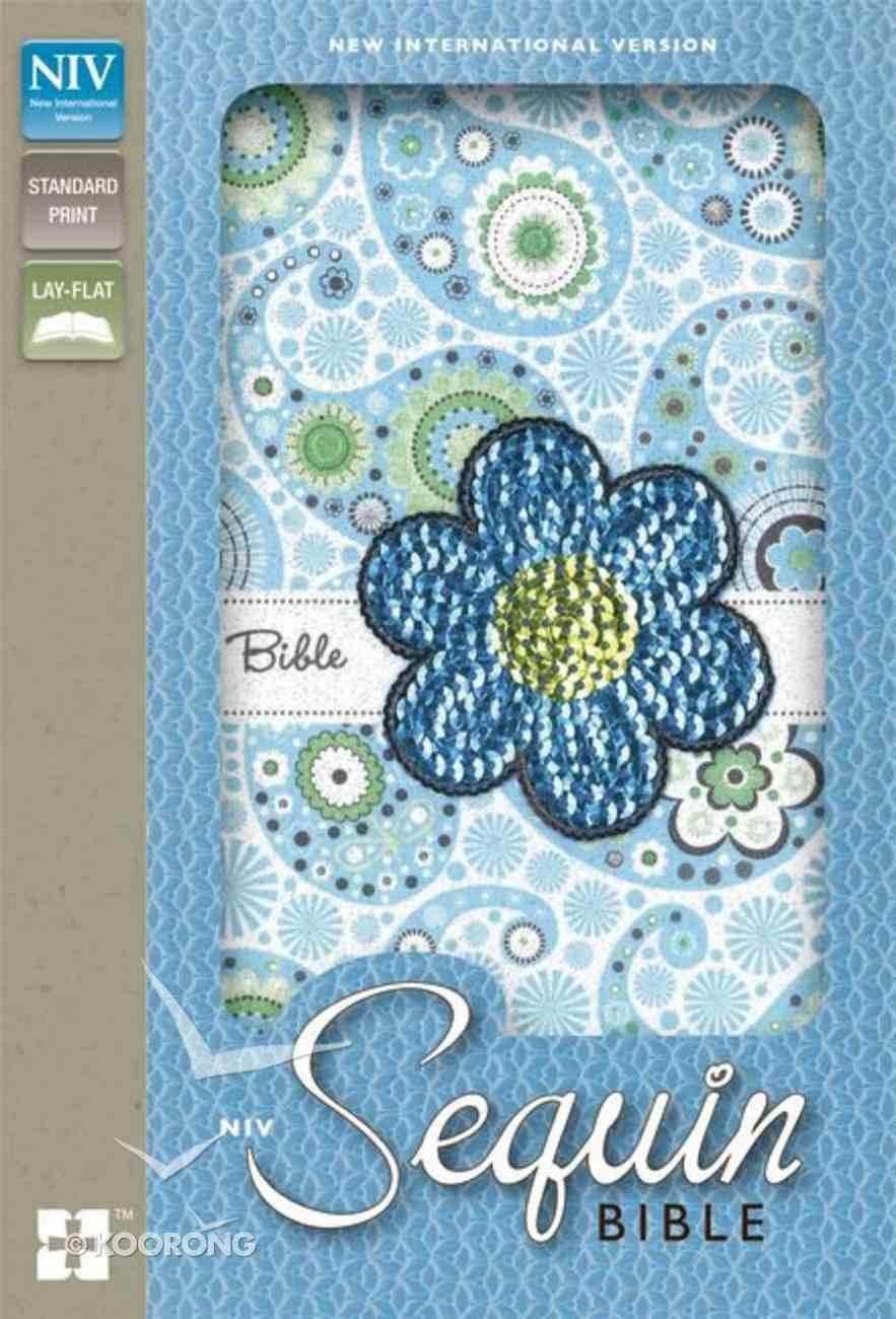 NIV Sequin Bible Blue Sparkle (Red Letter Edition) Imitation Leather