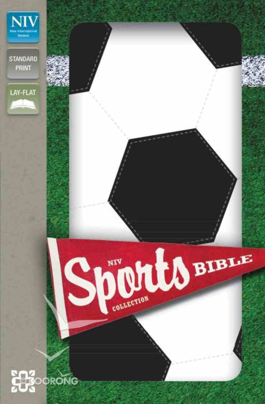 NIV Sports Collection Bible Black/White Soccer (Red Letter Edition) Imitation Leather