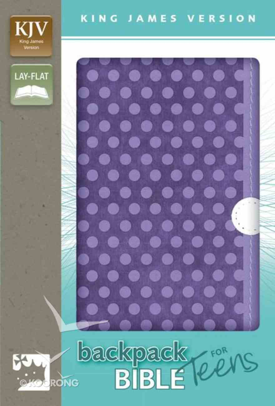 KJV Backpack Bible For Teens Italian Duo-Tone Purple Dots (Red Letter Edition) Premium Imitation Leather