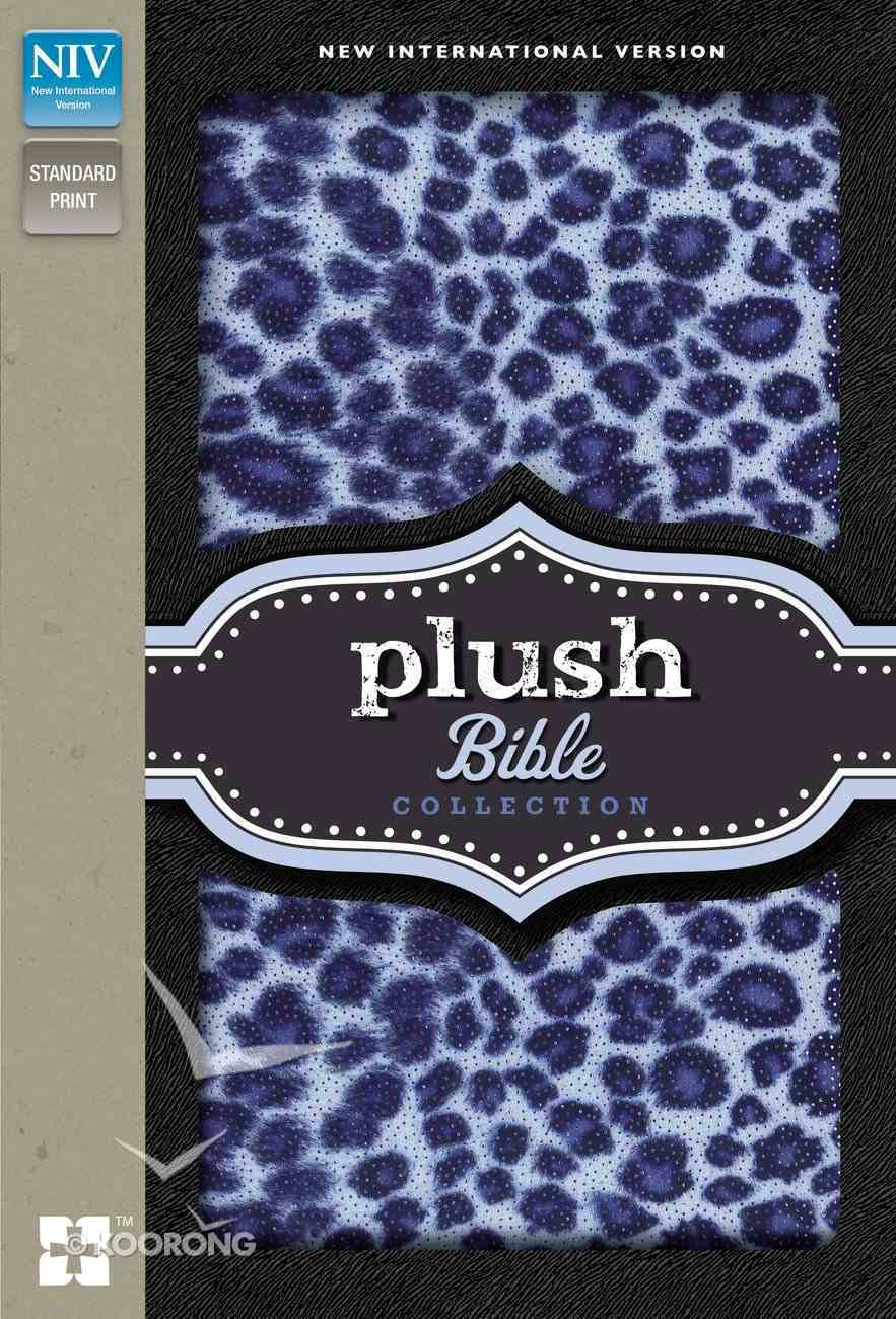 NIV Plush Bible Collection Blue Leopard Print (Red Letter Edition) Hardback