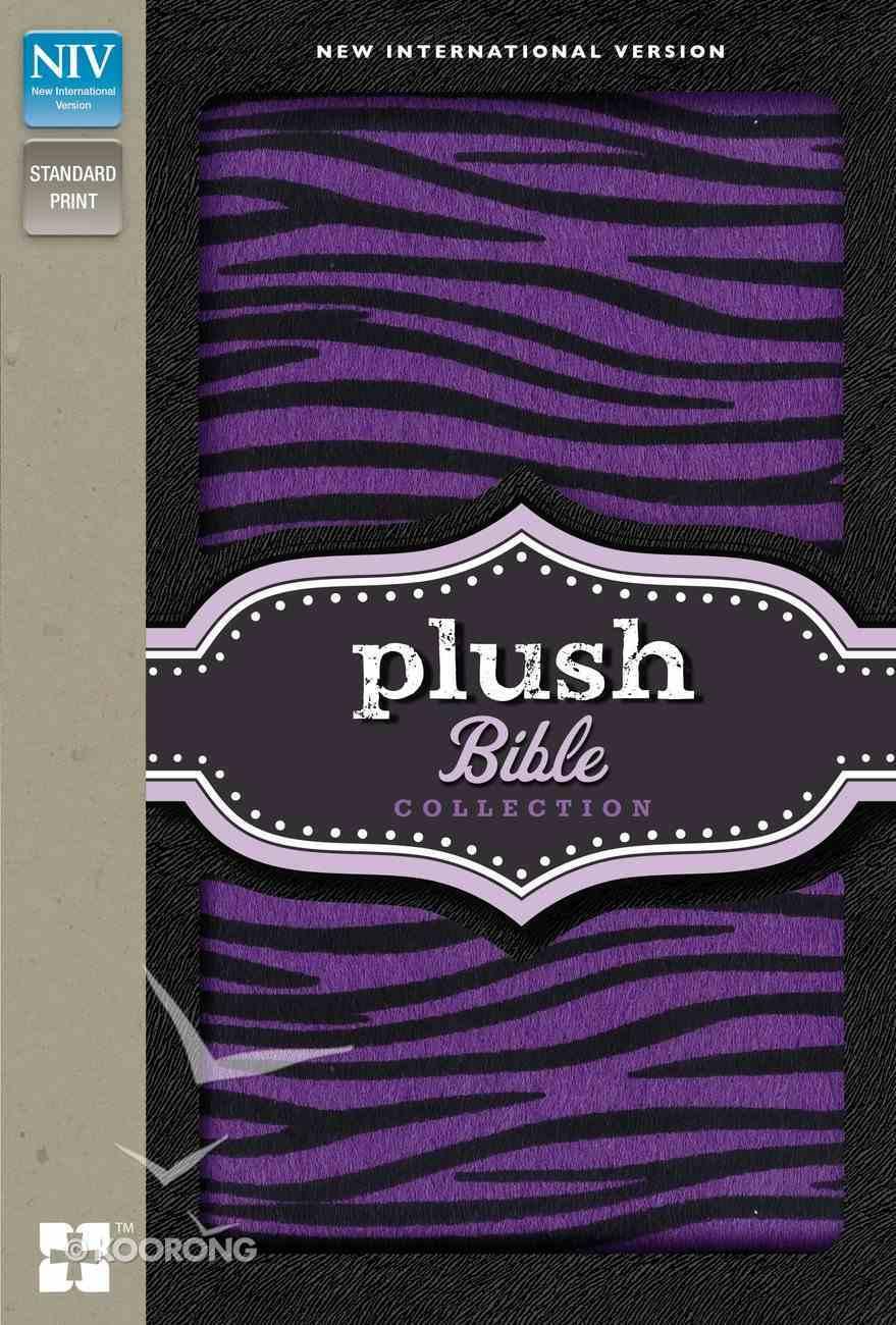 NIV Plush Bible Collection Purple/Black Zebra Stripes (Red Letter Edition) Hardback