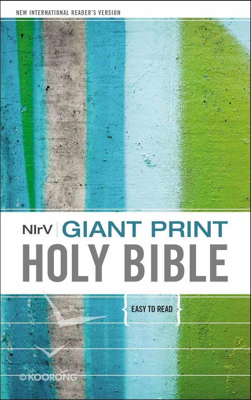 NIRV Giant Print Holy Bible (Black Letter Edition) Hardback