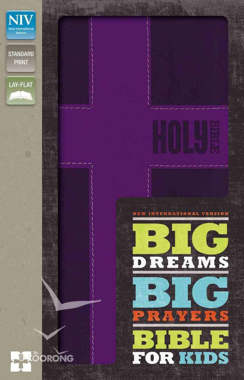 NIV Big Dreams Big Prayers Bible For Kids Fuschia (Black Letter Edition) Premium Imitation Leather