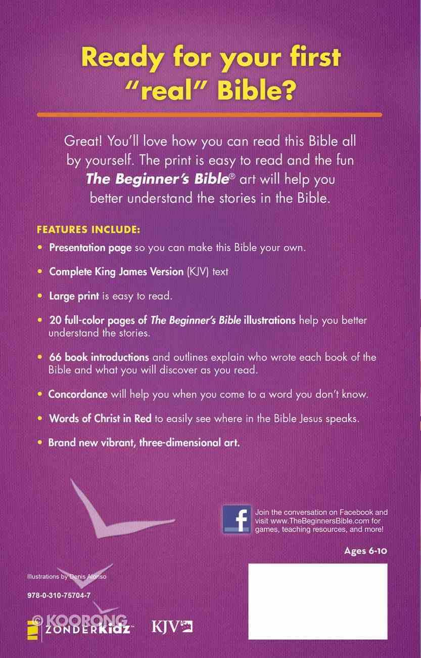 KJV Beginner's Bible Large Print (Red Letter Edition) Hardback