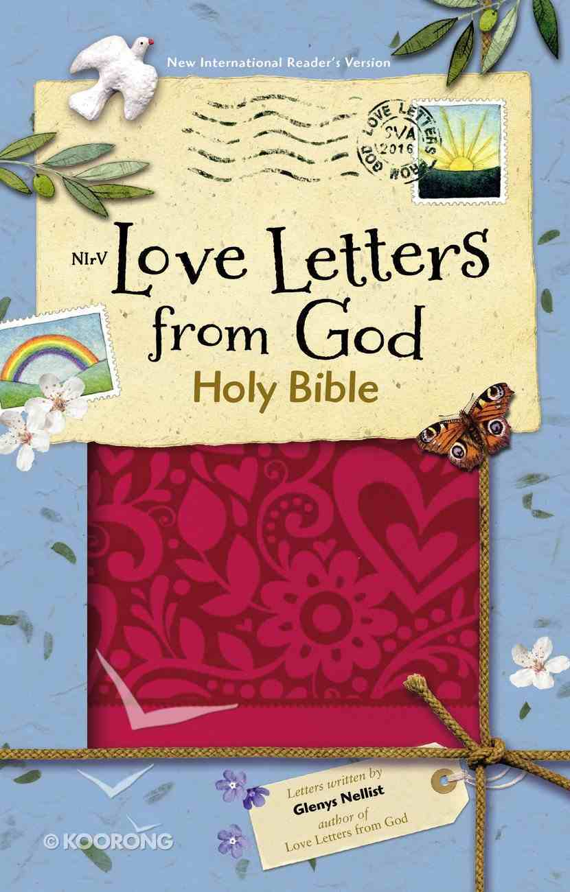 NIRV Love Letters From God Bible Magenta (Black Letter Edition) Premium Imitation Leather