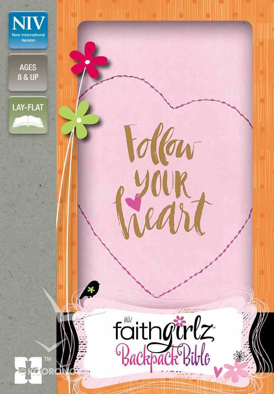 NIV Faithgirlz Backpack Bible Compact (Red Letter Edition) Premium Imitation Leather