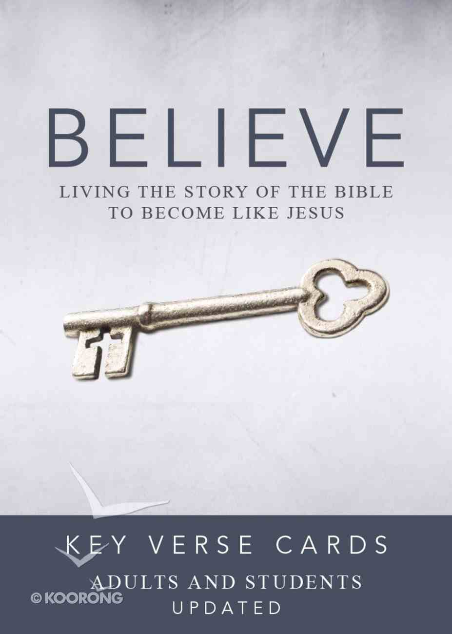 Believe Key Verse Cards: Adult/Student Cards