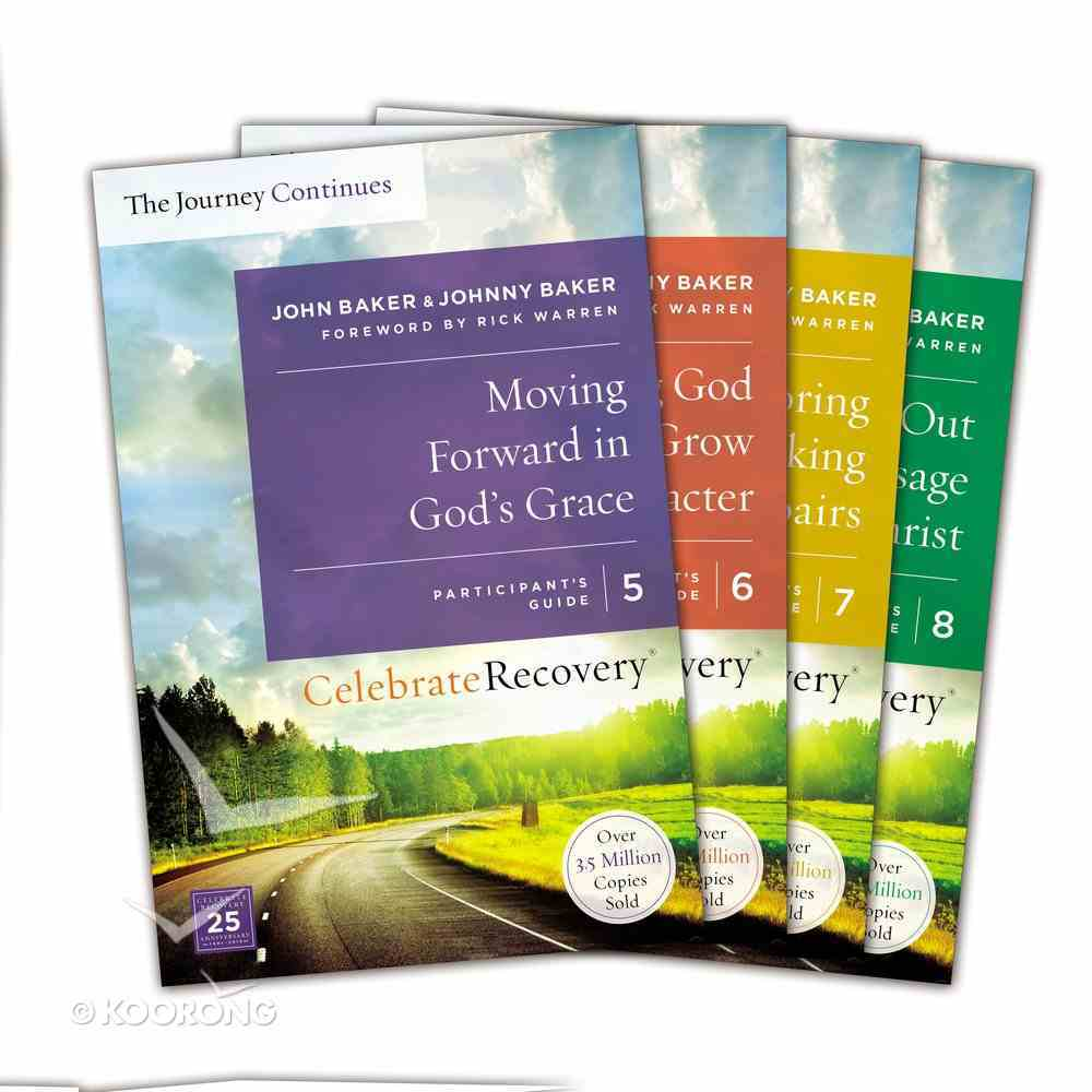 Celebrate Recovery Volumes 5-8 (The Journey Continues Set) (Celebrate Recovery Participant's Guide Series) Pack