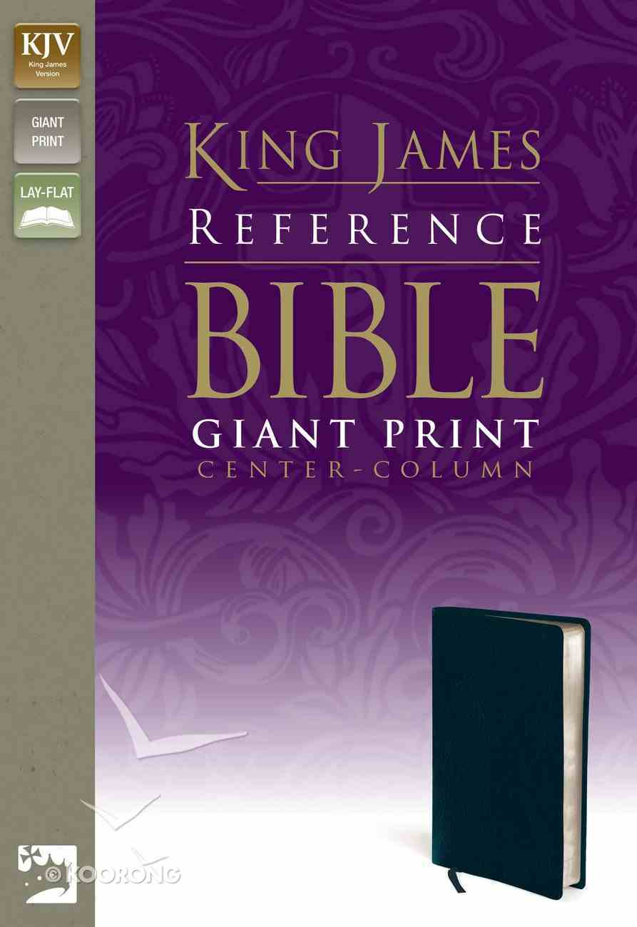 KJV Reference Bible Giant Print Navy (Red Letter Edition) Bonded Leather