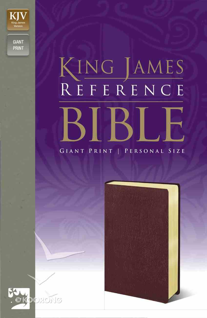 KJV Giant Print Personal Reference Bible Burgundy (Red Letter Edition) Imitation Leather