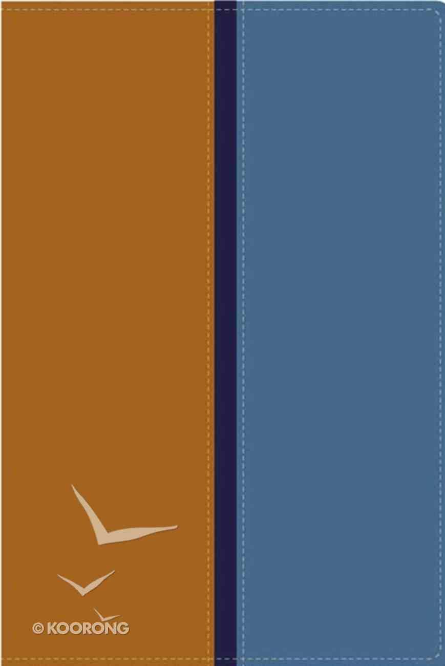 Rvr1960/Nvi Biblia Paralela Tan/Blue (Parallel Bible) Imitation Leather