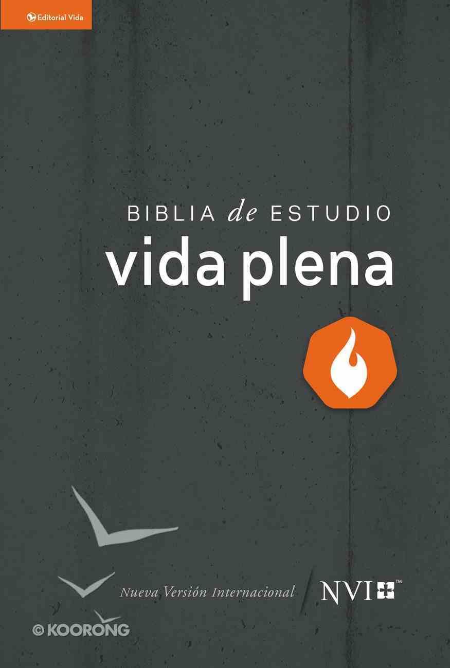 Nvi Biblia De Estudio Vida Plena (Red Letter Edition) (Nvi Full Life Study Bible) Hardback
