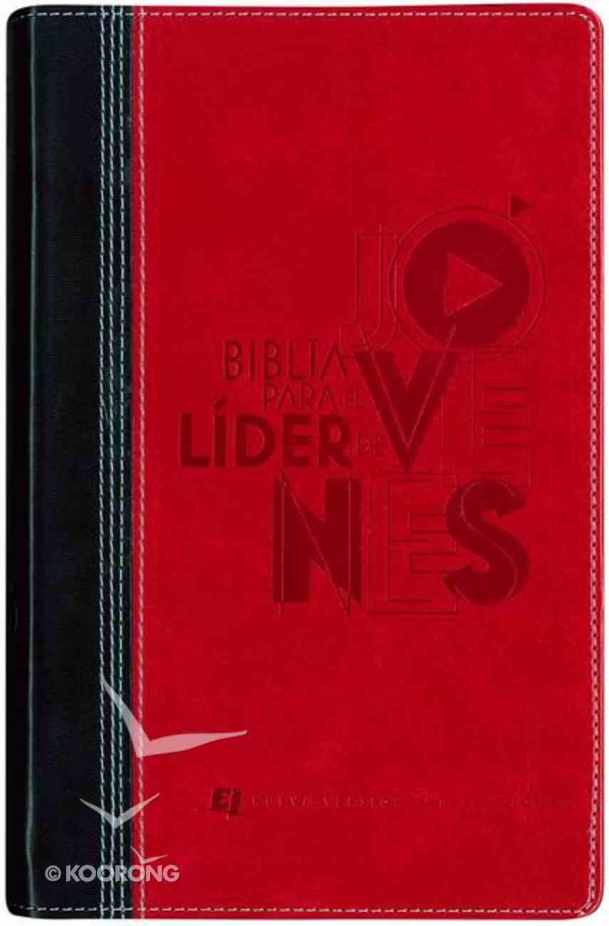 Nvi Biblia Para El Lider De Jovenes Black/Red (Study Bible For Youth Leaders) Imitation Leather