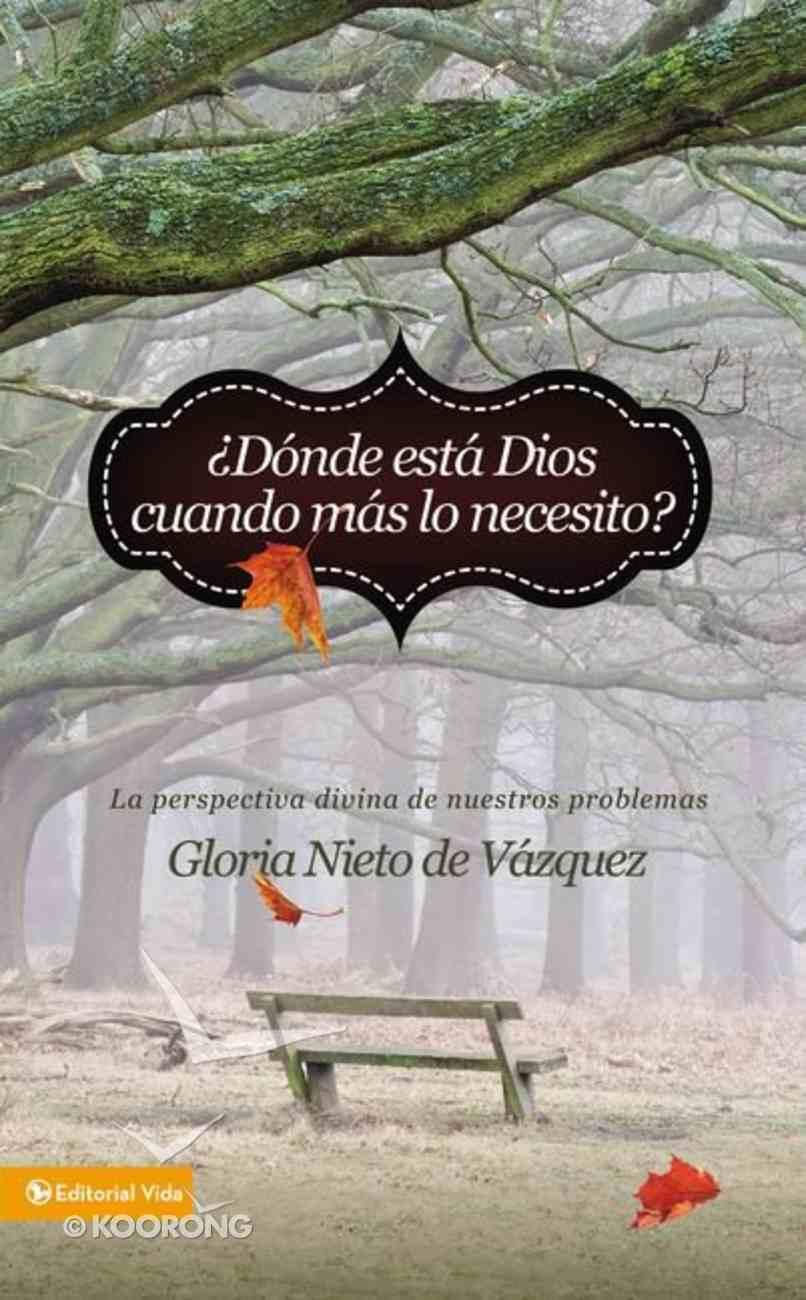 Dnde Est Dios Cuando MS Lo Necesito? (Where Is God When I Need It?) Paperback