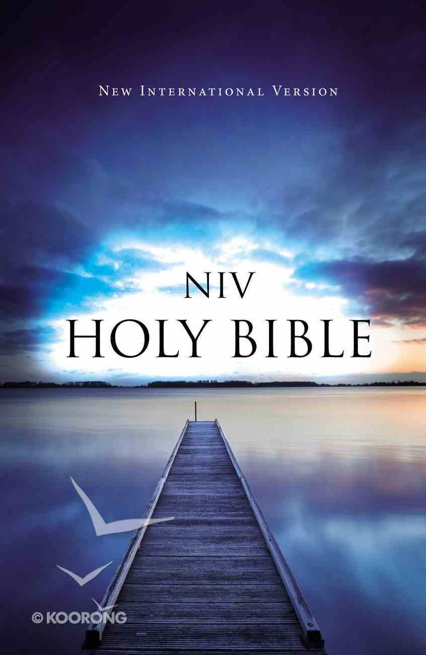 NIV Outreach Bible Blue Pier Paperback