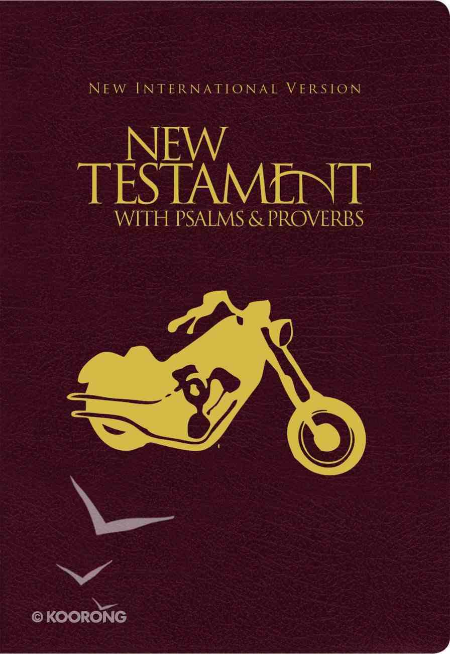 NIV New Testament With Psalms & Proverbs Pocket-Sized Black Motorcycle Paperback (Black Letter Edition) Paperback