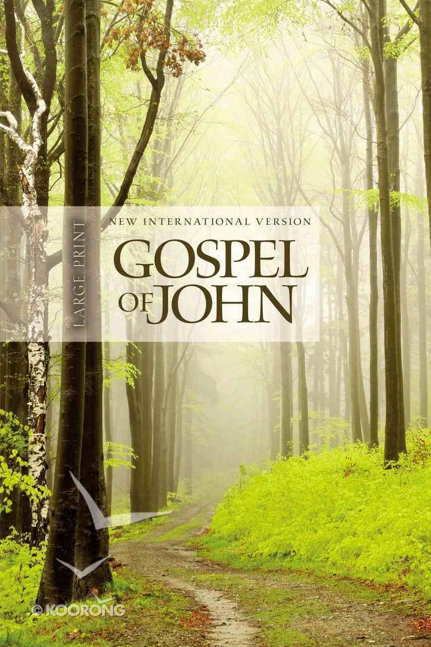 NIV Gospel of John Large Print Tree Paperback