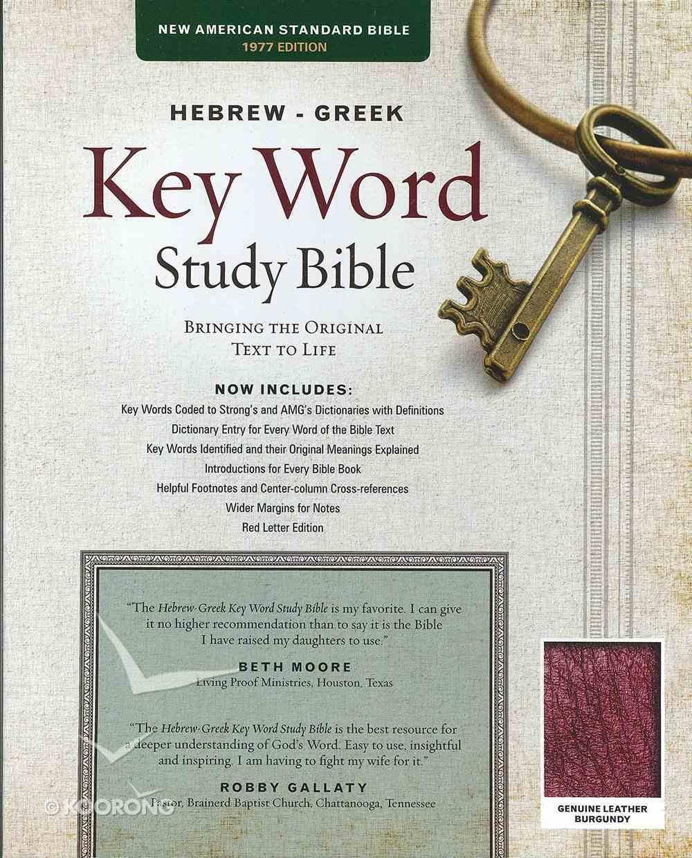 NASB Hebrew-Greek Key Word Study Bible Burgundy Indexed Genuine Leather