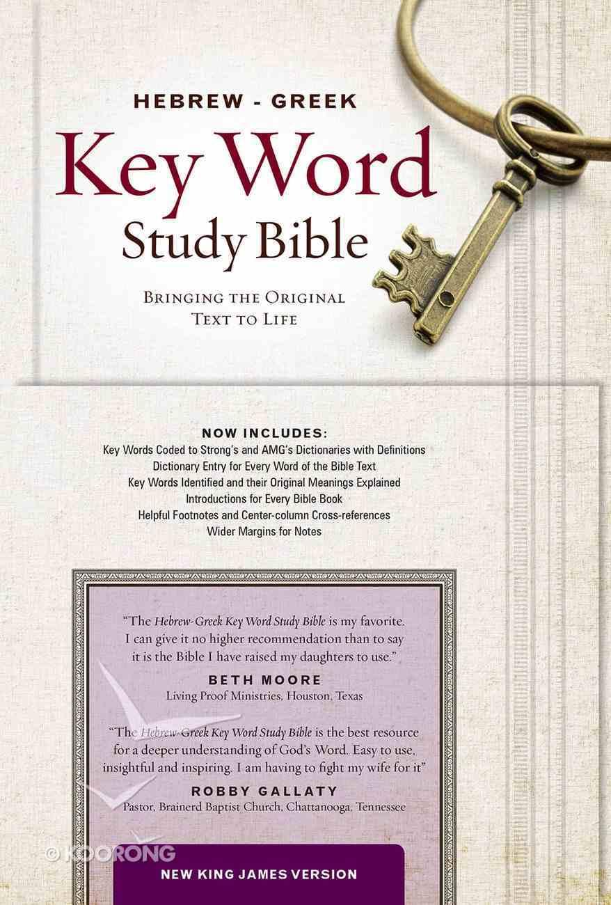 NKJV Hebrew-Greek Key Word Study Bible Black Genuine Leather Indexed Genuine Leather