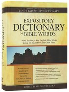 Expository Dictionary of Bible Words Hardback