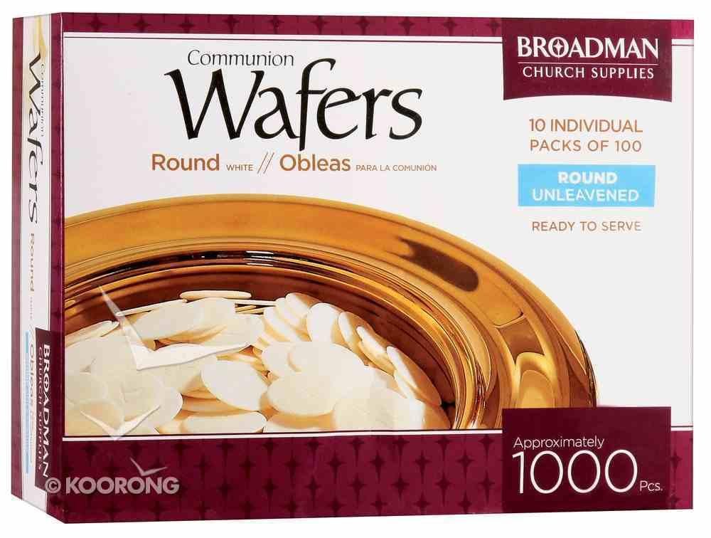 "Communion Bread 1000 Wafers 1 1/8"" Round Box"
