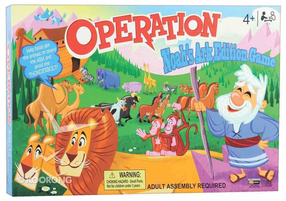 Board Game: Operation (Noah's Ark Edition) Game