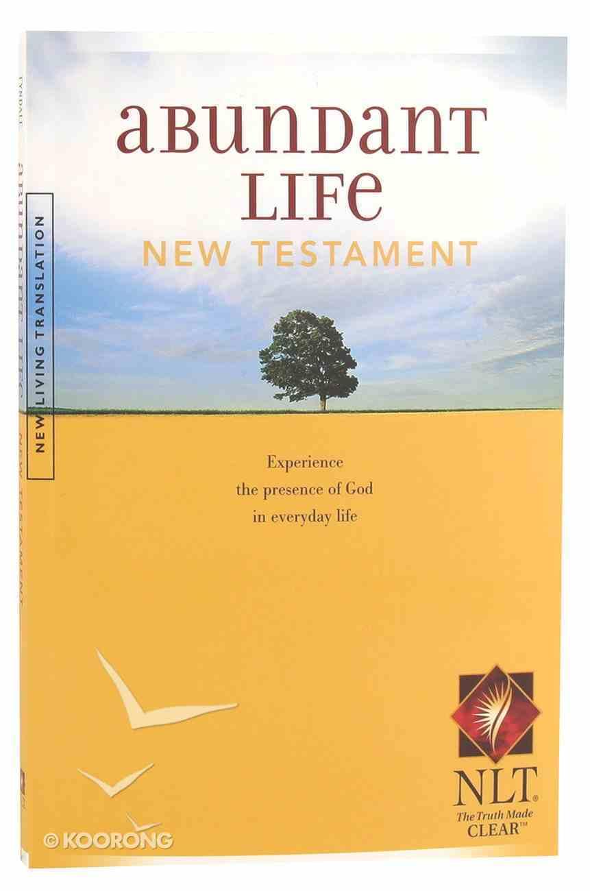 NLT Abundant Life New Testament (Black Letter Edition) Paperback