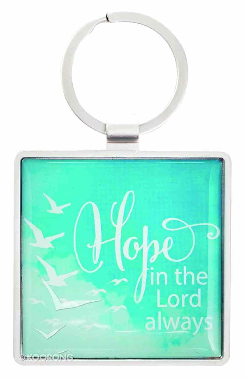 Metal Keyring: Soar, Hope in the Lord, Isaiah 40:31 Jewellery