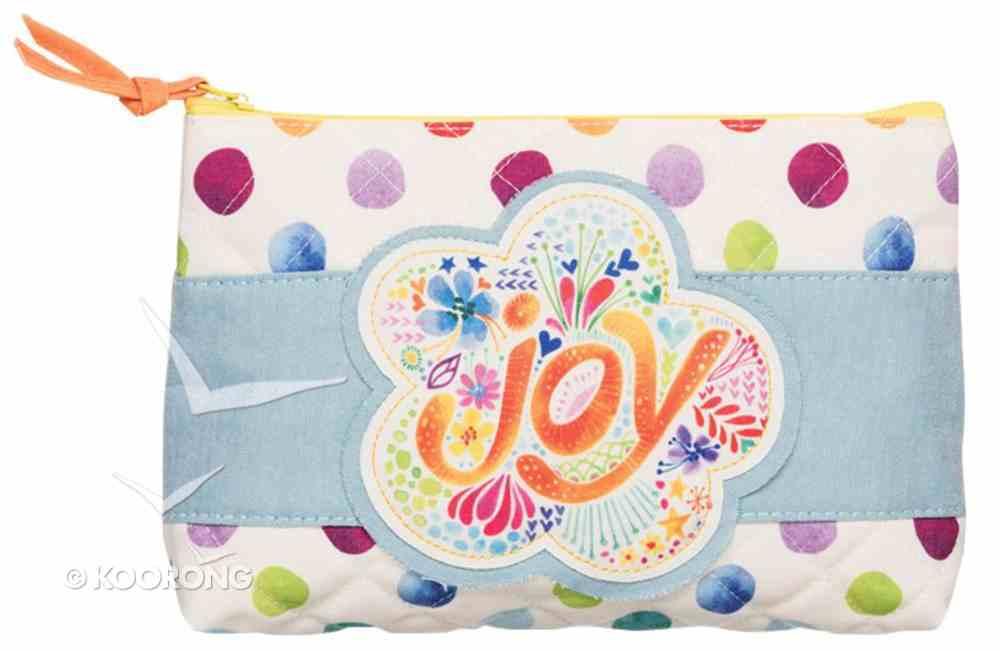 Medium Accessory Case: Joy Let Your Light Shine, Coloured Dots/Pale Blue Soft Goods