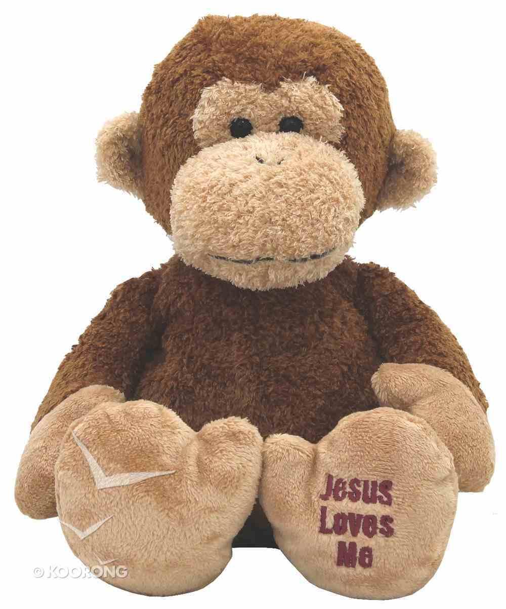 Charlie Monkey: Jesus Loves Me, 32Cm Soft Goods
