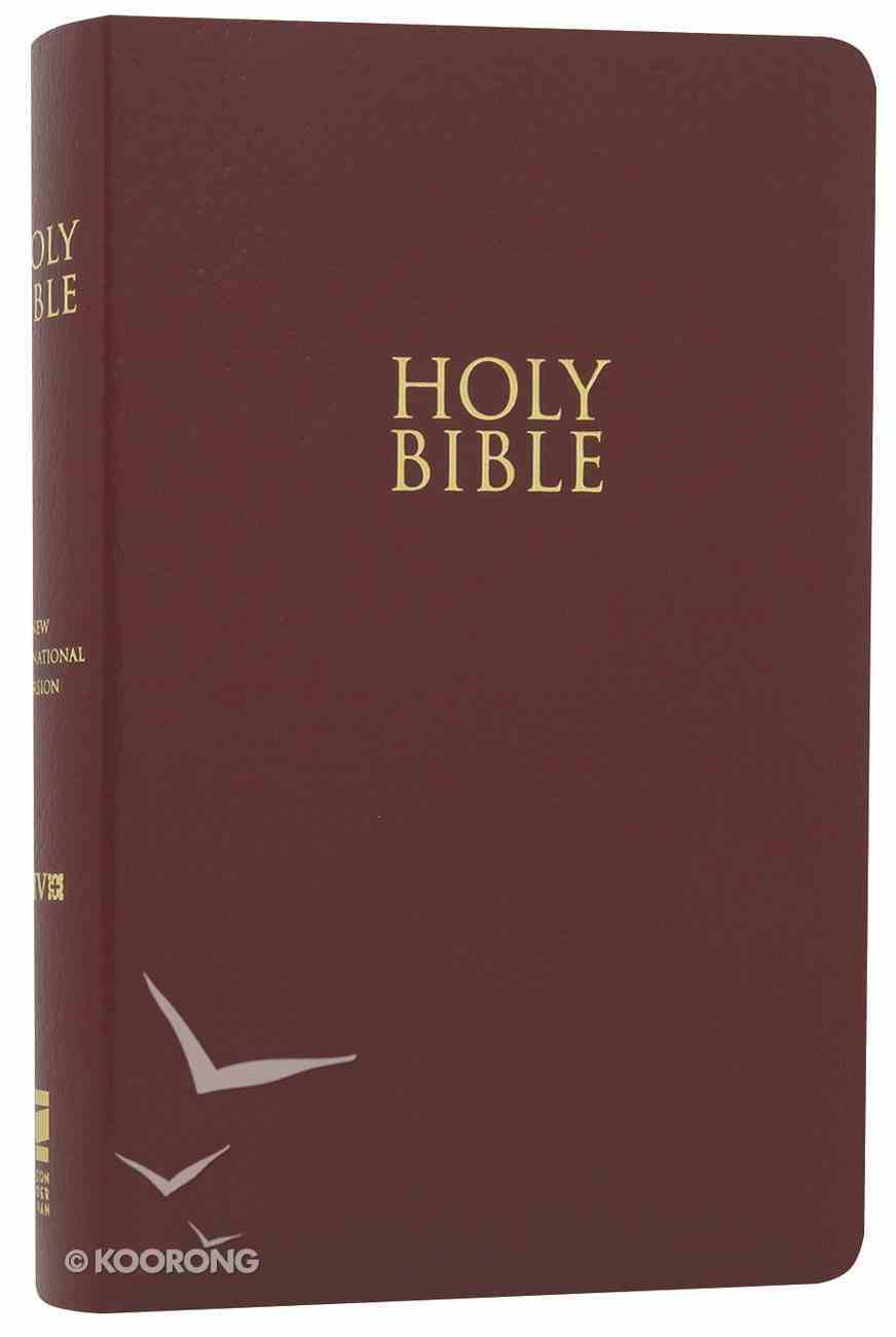 NIV Gift & Award Bible Burgundy (Red Letter Edition) Imitation Leather