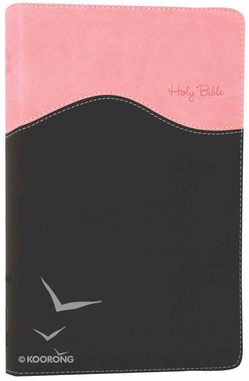 NIV Gift Bible Pink/Chocolate (Red Letter Edition) Premium Imitation Leather