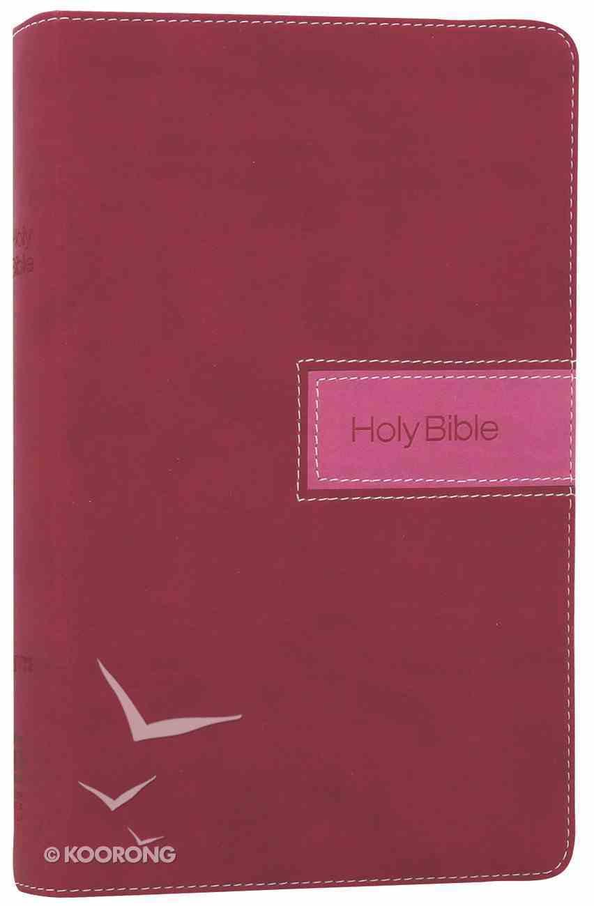 NIV Gift Bible Razzleberry (Red Letter Edition) Premium Imitation Leather