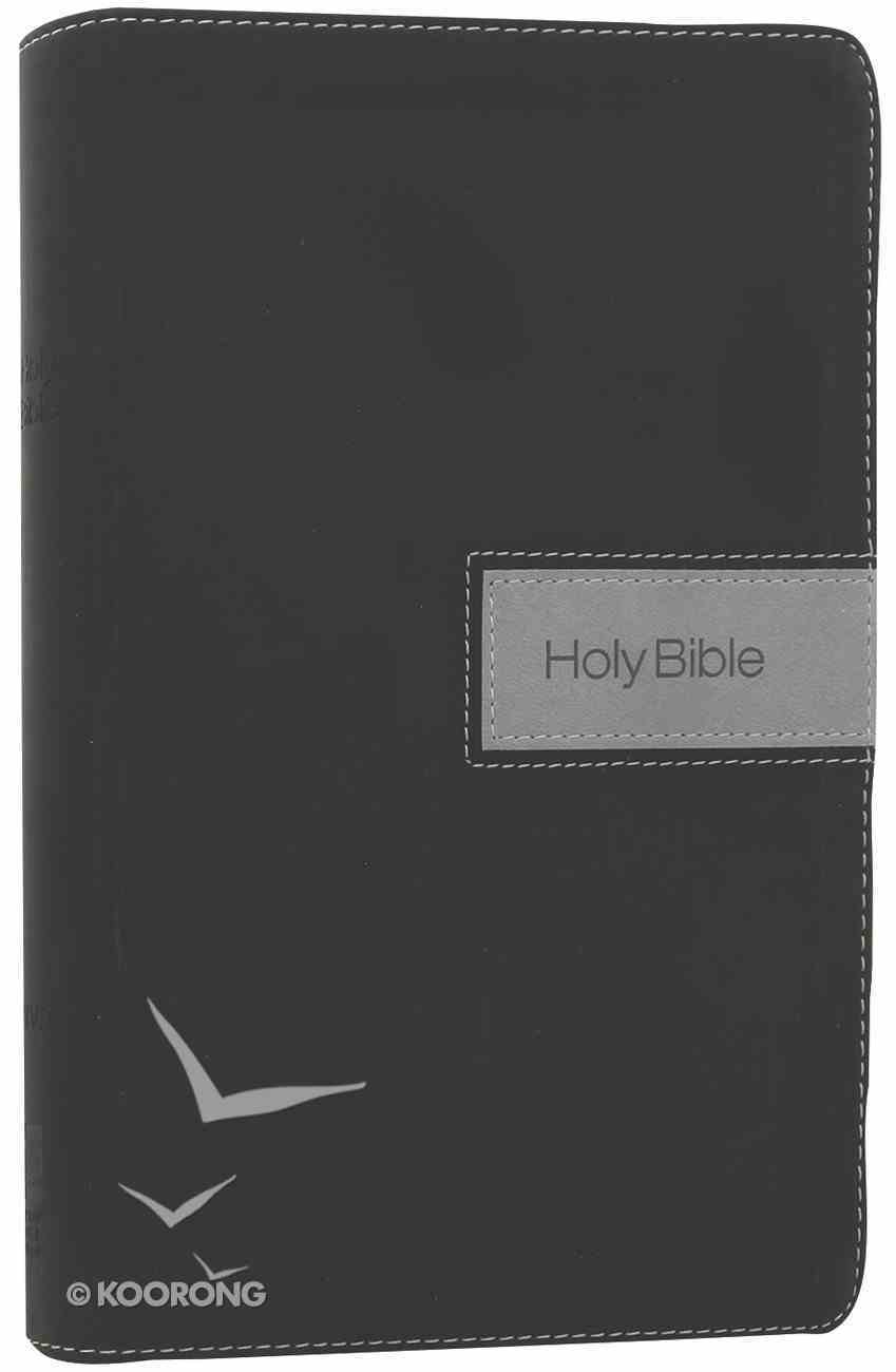 NIV Gift Bible Black Gray (Red Letter Edition) Premium Imitation Leather
